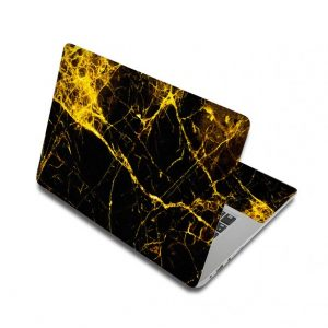 Yellow Marble Laptop Skin Sticker For Laptop And Macbook
