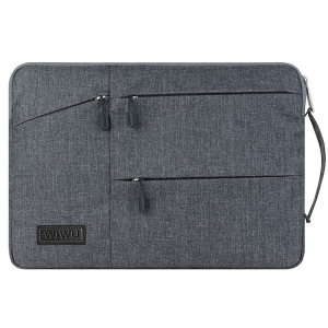 Black Wiwu Multi Pockets Sleeve For Laptop And MacBook Air & Pro  6