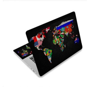 Colorful World map Laptop Sticker Protector 1