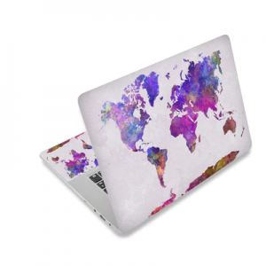 White World map Laptop Sticker Protector